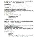 Statuts, page 1.