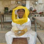 Les enfants suivent l'intégralité du processus apicole,