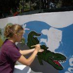 vivre le quotidien des enfants du centre, s'intégrer, devenir bilingue, participer aux projets en cours (fresque murale),